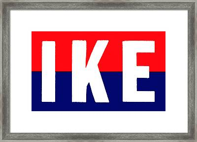 1952 Ike For President Framed Print by Historic Image