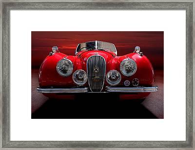 1952 Jaguar Xk120  Framed Print by Radoslav Nedelchev