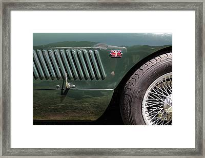1952 Jaguar Xk120 Roadster 5d22972 Framed Print by Wingsdomain Art and Photography