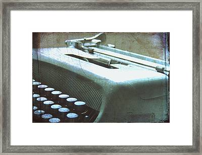 1952 Olivetti Typewriter Framed Print by Georgia Fowler