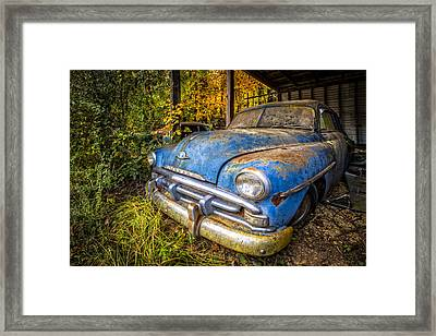 1952 Plymouth Framed Print by Debra and Dave Vanderlaan