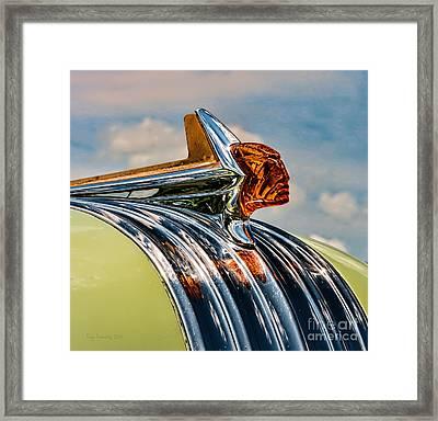 1952 Pontiac Hood Ornament Framed Print