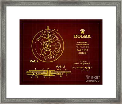 1952 Rolex Calendar Timepiece 3 Framed Print by Nishanth Gopinathan
