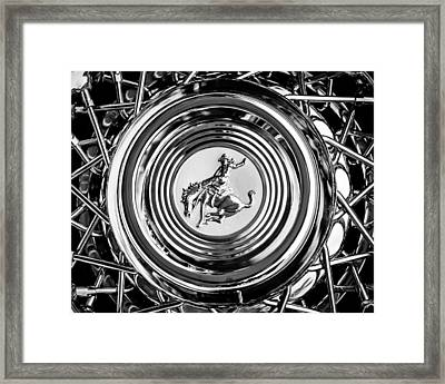 1952 Stering Gladwin Maverick Sportster Wheel Emblem - 1720bw Framed Print by Jill Reger