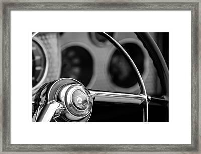 1952 Sterling Gladwin Maverick Sportster Steering Wheel Emblem -1848bw Framed Print by Jill Reger