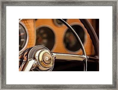 1952 Sterling Gladwin Maverick Sportster Steering Wheel Emblem -1848c Framed Print by Jill Reger