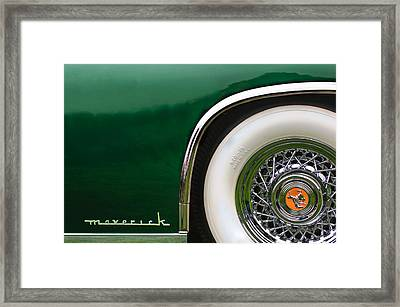 1952 Sterling Gladwin Maverick Sportster Wheel Emblem -0321c Framed Print