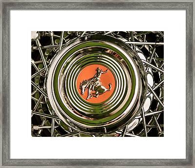 1952 Sterling Gladwin Maverick Sportster Wheel Emblem - 1720c Framed Print