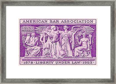 1953 American Bar Association Postage Stamp Framed Print by David Patterson