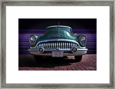 1953 Buick Framed Print by Andrea Kelley