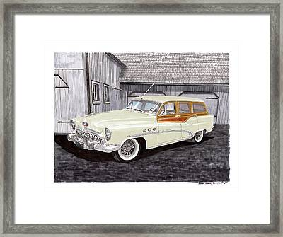 1953 Buick Estate Wagon Woody Framed Print