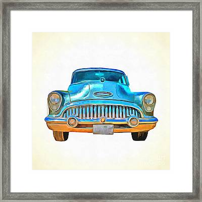1953 Buick Roadmaster Pop Art Framed Print