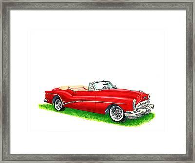 1953 Buick Skylark Convertible Framed Print by Jack Pumphrey