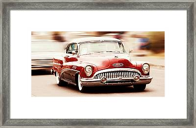 Old Car Framed Print featuring the photograph 1953 Buick Super by Aaron Berg