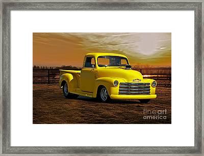 1953 Chevrolet Pick Up 'custom' Truck Framed Print by Dave Koontz
