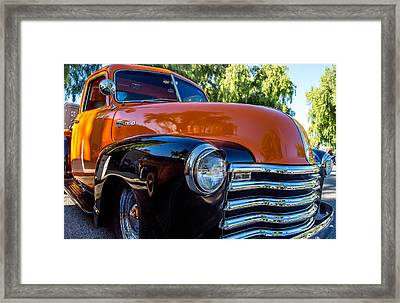Framed Print featuring the photograph 1953 Chevrolet Pickup by Steve Benefiel