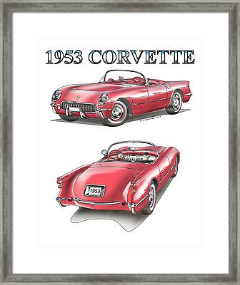 1953 Corvette Framed Print