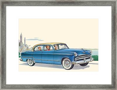1953 Dodge Coronet Antique Car - Nostagic Americana - Vintage Tranportation Framed Print