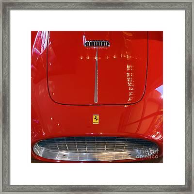 1953 Ferrari 250 Mm Spyder Dsc2509sq Framed Print