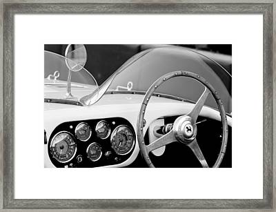 1953 Ferrari 340 Mm Lemans Spyder Steering Wheel Emblem Framed Print