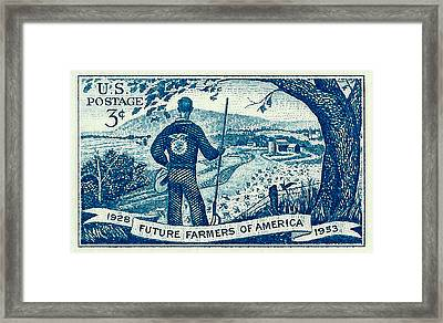 1953 Future Farmers Of America Postage Stamp Framed Print by David Patterson