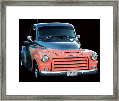 1953 Gmc Pick-up Framed Print