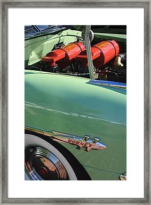 1953 Hudson Hornet Sedan Engine Framed Print