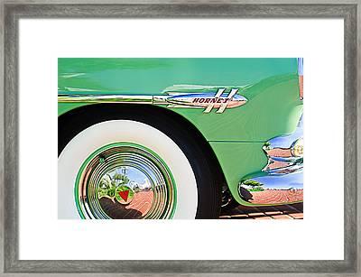 1953 Hudson Hornet Sedan Wheel Emblem Framed Print