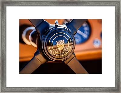 1953 Jaguar Xk 120 Se Steering Wheel Emblem -2470c Framed Print by Jill Reger