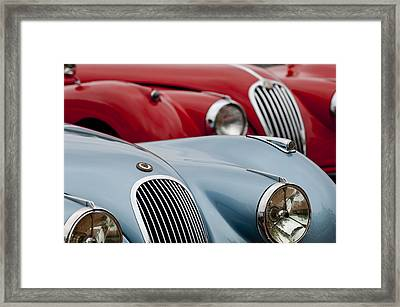 1950 Jaguar Xk120 Roadsters -1366c Framed Print