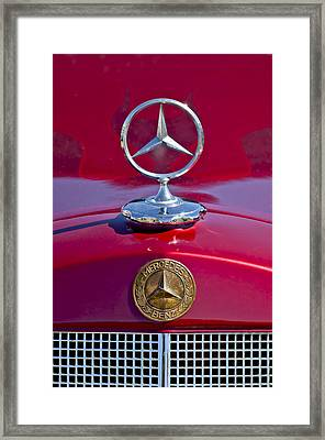 1953 Mercedes Benz Hood Ornament Framed Print
