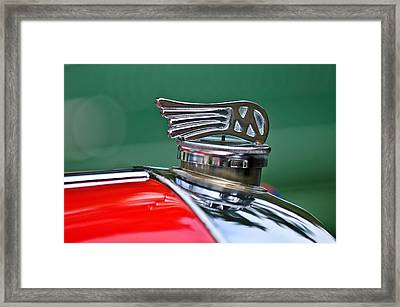 1953 Morgan Plus 4 Le Mans Tt Special Hood Ornament Framed Print
