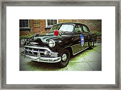 1953 Police Car Framed Print by Patricia Greer