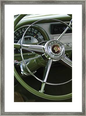 1953 Pontiac Steering Wheel Framed Print by Jill Reger