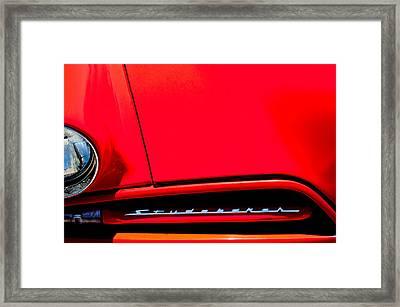 1953 Studebaker Coupe Grille Emblem Framed Print by Jill Reger