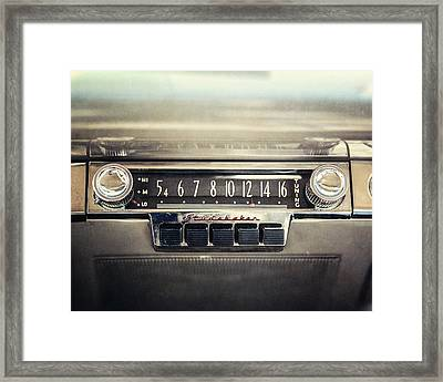 1953 Studebaker Land Cruiser Car Radio Framed Print by Lisa Russo