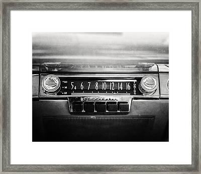 1953 Studebaker Land Cruiser In Black And White Framed Print by Lisa Russo