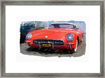 1954 Chevrolet Corvette Framed Print by RG McMahon