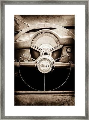 1954 Chevrolet Corvette Steering Wheel Emblem Framed Print