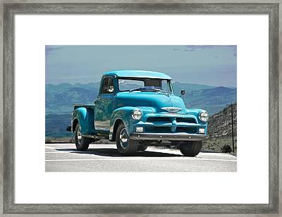 1954 Chevrolet 'down Home' Pick Up Truck Framed Print
