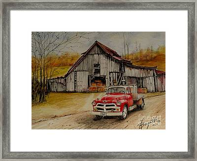 1954 Chevy Truck And Barn Framed Print
