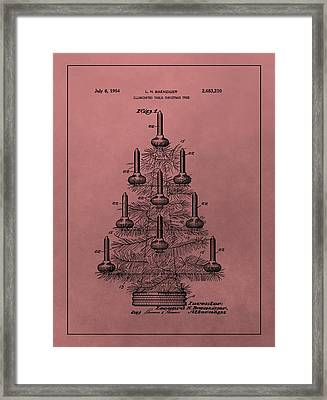 1954 Christmas Tree Patent Framed Print