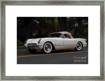 1954 Corvette Convertible Framed Print by Dennis Hedberg