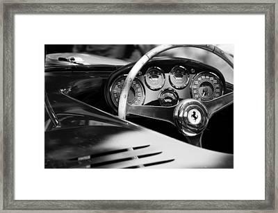 1954 Ferrari 500 Mondial Spyder Steering Wheel Emblem Framed Print by Jill Reger