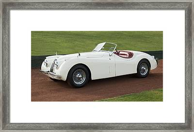 1954 Jaguar Xk120 Roadster  Framed Print