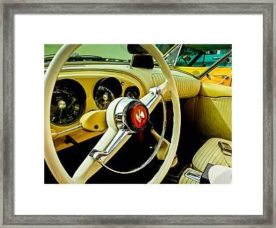 1954 Kaiser Darrin Steering Wheel And Dashboard Framed Print by Jon Woodhams