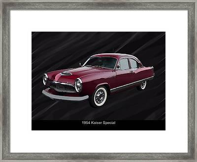 1954 Kaiser Special Framed Print by Chris Flees