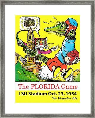 1954 Lsu Vs. Florida Football Program Framed Print by Big 88 Artworks