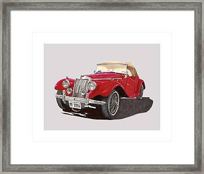 M G T F Red 1954 Framed Print