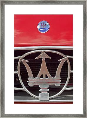 1954 Maserati A6 Gcs Emblem Framed Print